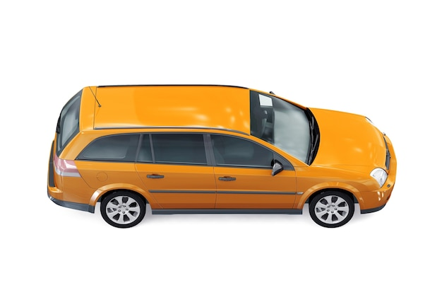Wagon combi auto 2002 mockup