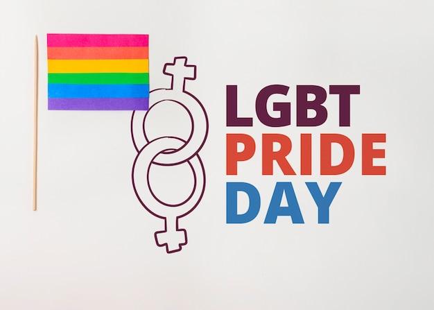 Wall gay pride mockup