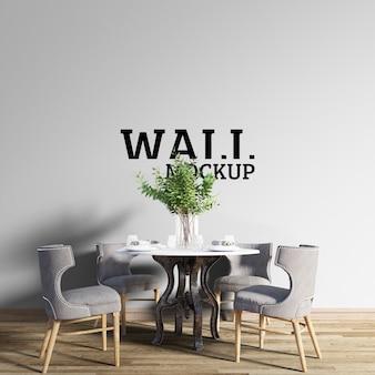 Wall mockup - klassieke eetkamer