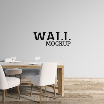 Wall mockup: sala da pranzo minimalista