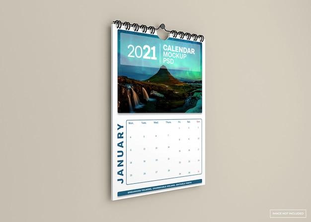 Wandkalender mockup geïsoleerd