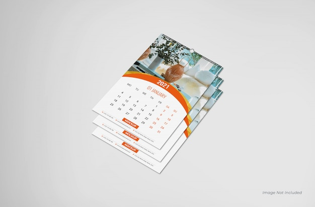 Wandkalender mockup, kalender mockup