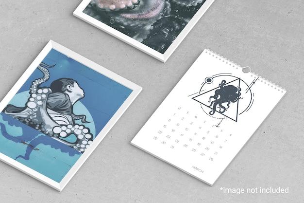 Wandkalender mockups set