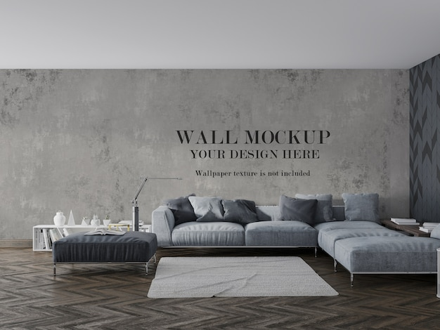 Wandmodel achter bed en meubels
