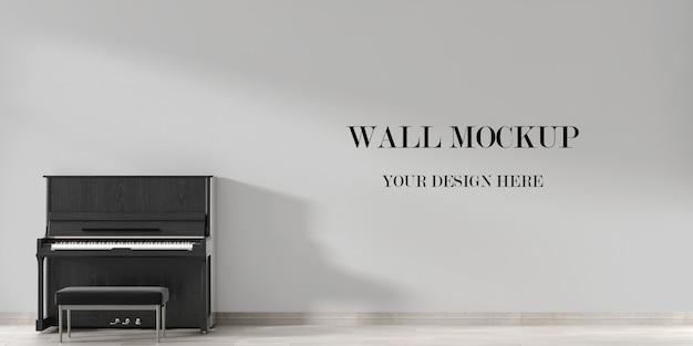 Wandmodel in interieur met piano