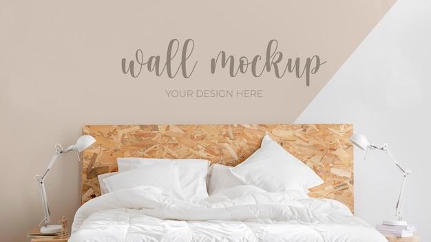 Wandmodel in slaapkameropstelling