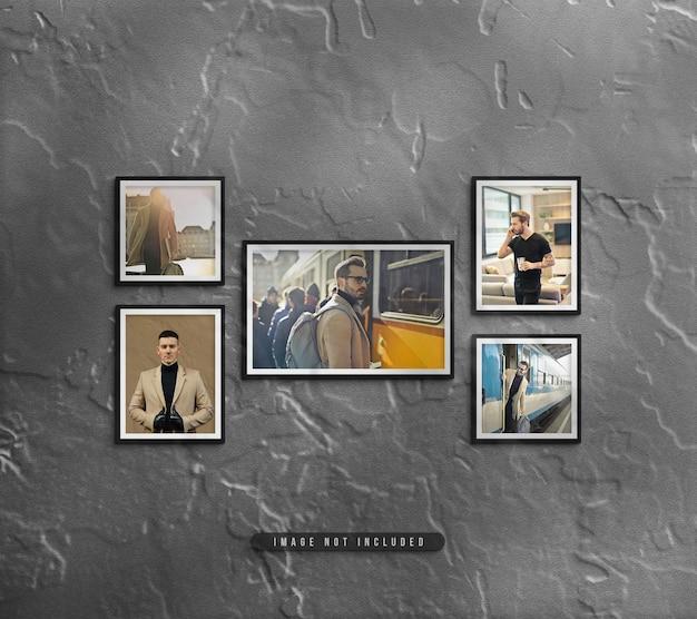 Wandmontage fotolijst set mockup