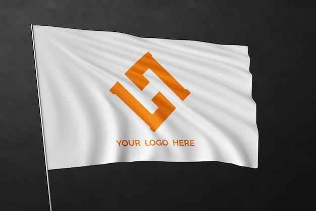 Wapperende vlag mockup