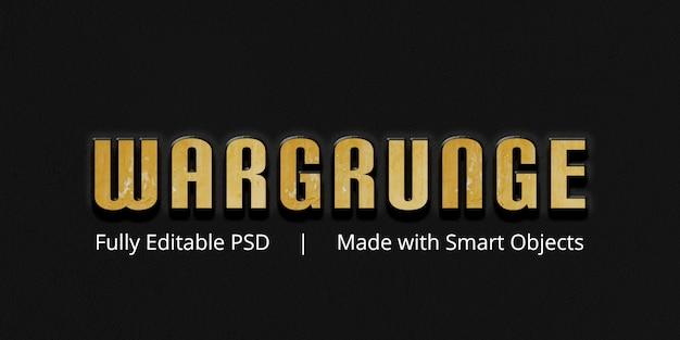 Wargrunge-teksteffect
