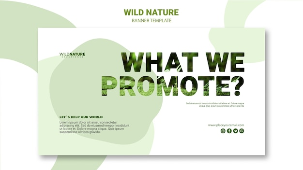 Wat we promoten natuur banner sjabloon