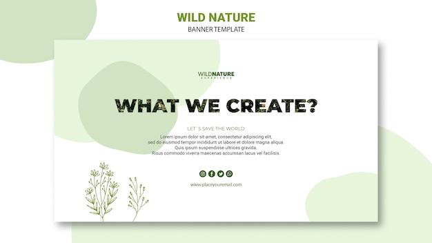 Wat we scheppen natuur banner sjabloon