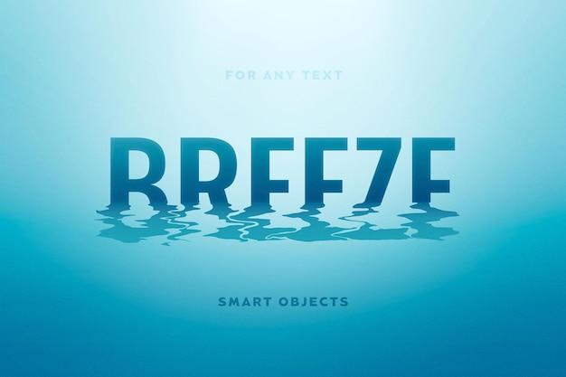 Water rimpelt teksteffect