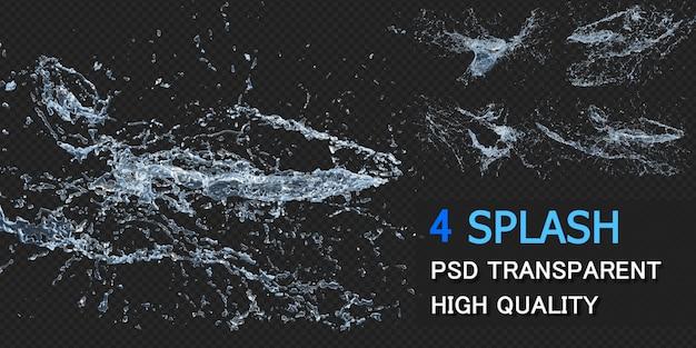 Water splash met druppels pack ontwerp geïsoleerd