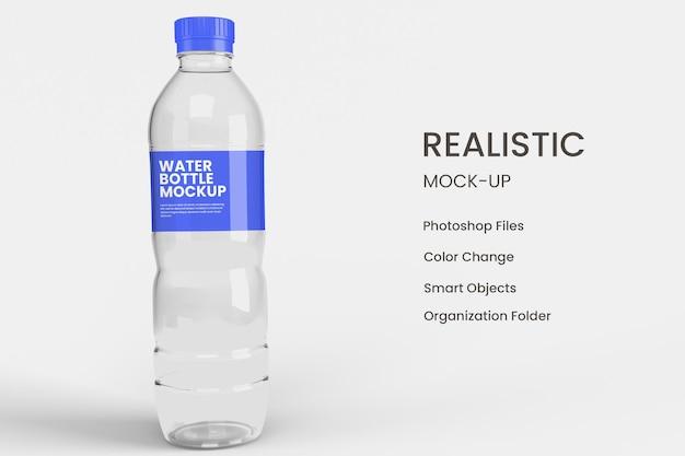 Waterfles mockup ontwerp geïsoleerd
