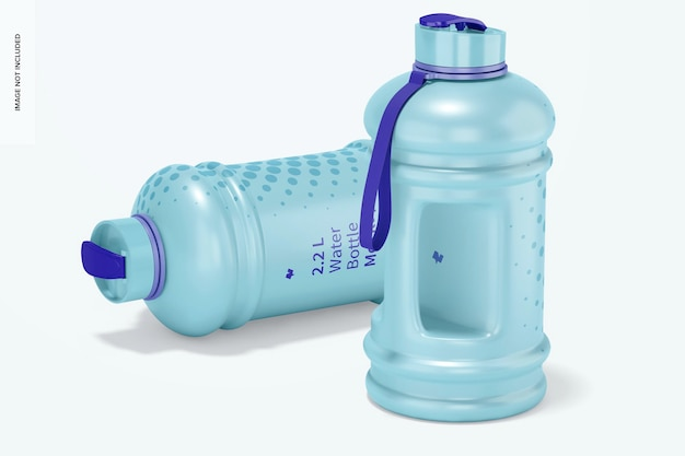 Waterflesmodel van 2,2 liter, laten vallen