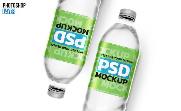Waterflessen 3d-rendering mockup