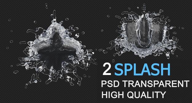 Waterplons met druppeltjes geïsoleerd ontwerp