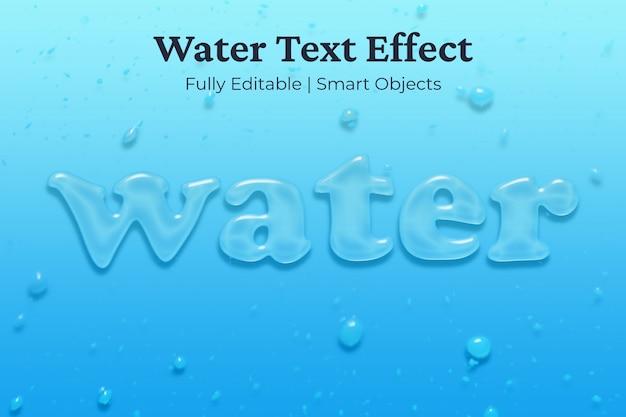 Waterteksteffect