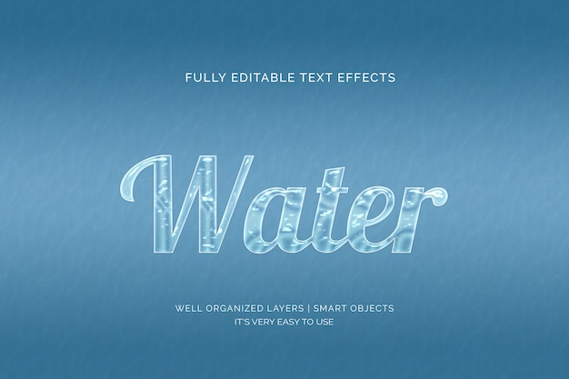 Waterteksteffect