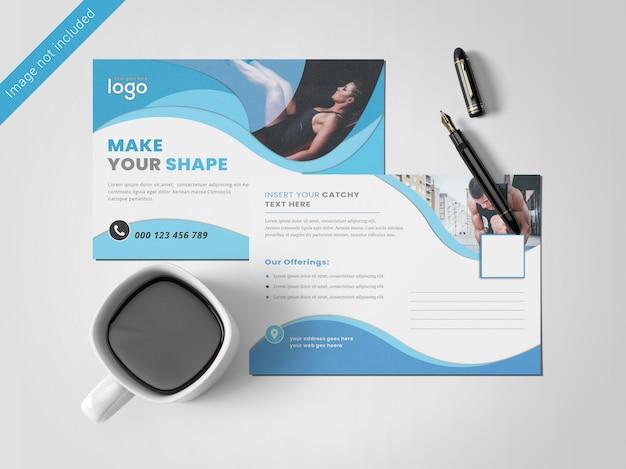 Wave postkaart ontwerpsjabloon