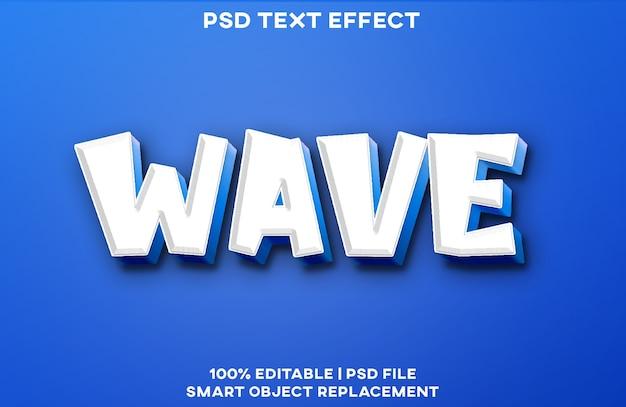 Wave teksteffect stijlsjabloon