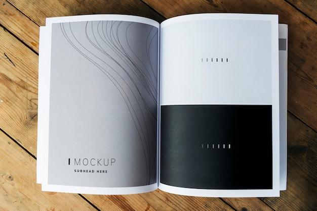 Wave textuur tijdschrift pagina mockup