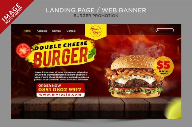 Web banner landing page burger promotion series