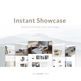 Web page mock up collezione