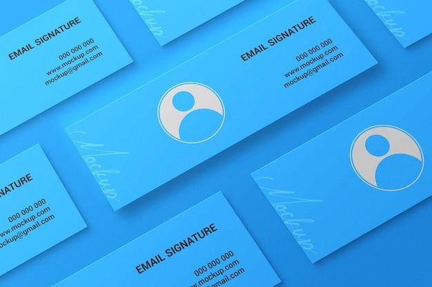 Webbanner facebook cover e-mailhandtekening mockup