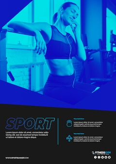 Webbanner sjabloon met sport concept