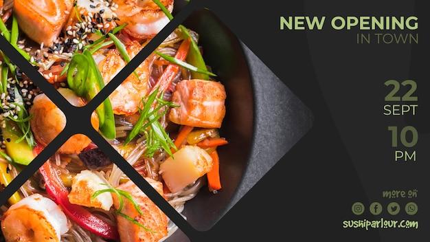 Webbanner sjabloon voor japans restaurant