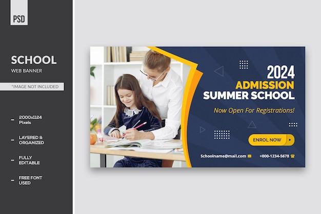 Webbanner voor schoolonderwijs
