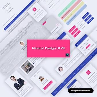 Webdesign ui-kit materiaalontwerp