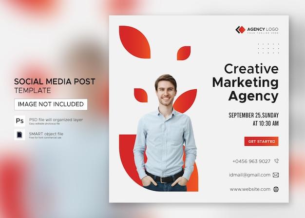 Webinar empresarial de marketing digital publicación en redes sociales psd premium