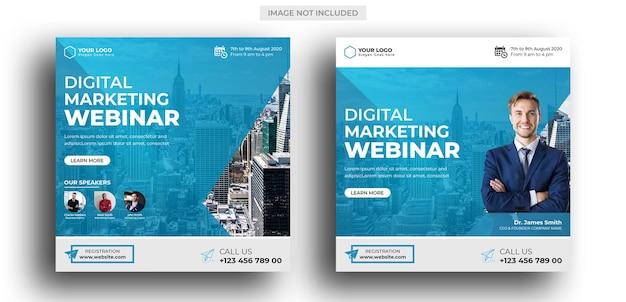 Webinar voor digitale marketing postsjabloon voor sociale media