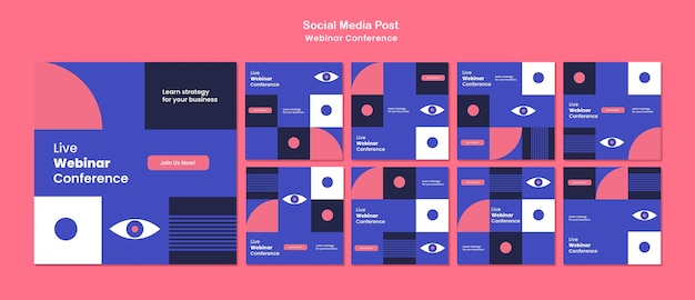 Webinarconferentie op sociale media