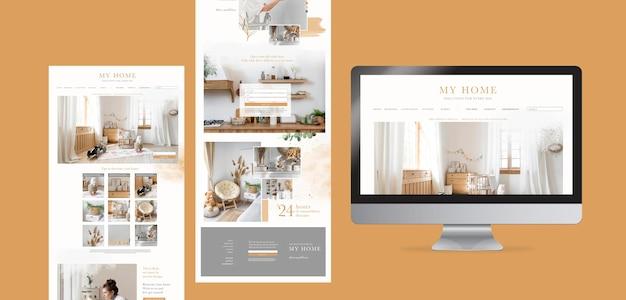 Webpaginasjabloon voor online winkel voor meubelen