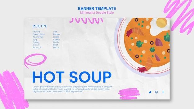 Website sjabloon voor banner recepten