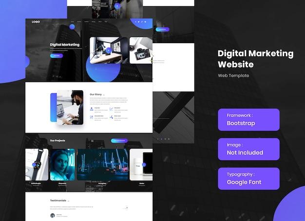 Website sjabloon voor digitaal marketingbureau