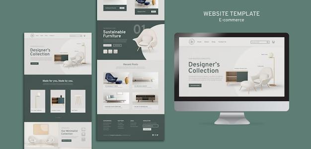 Website sjabloon voor e-commerce