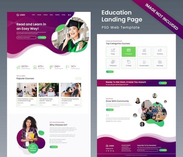 Website template over onderwijs