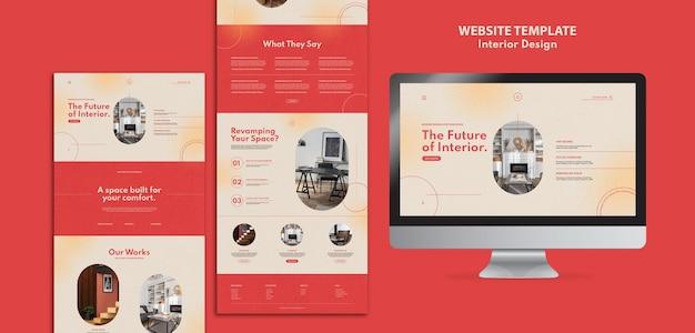 Websitesjabloon voor interieurontwerp