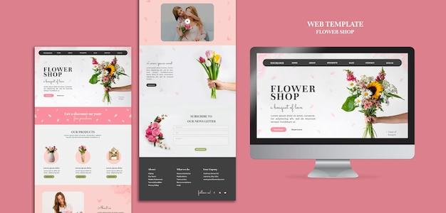 Websjabloon bloemenwinkel