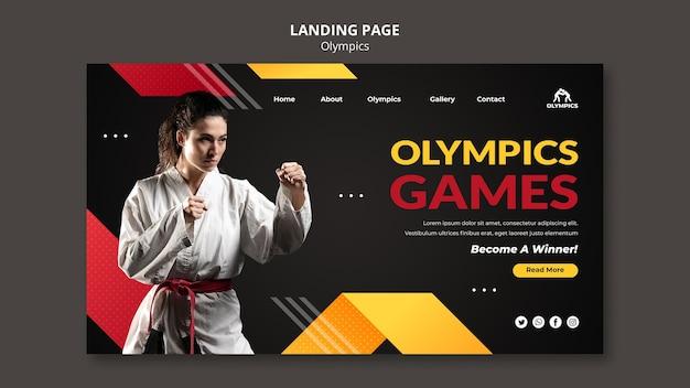 Websjabloon olympische spelen