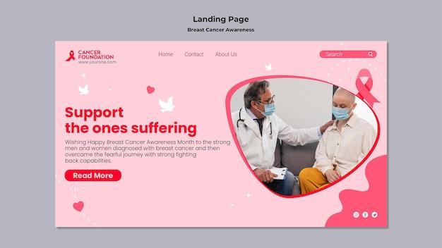 Websjabloon voor bewustzijn van borstkanker