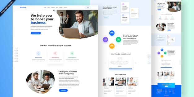 Websjabloon voor creatief bureau