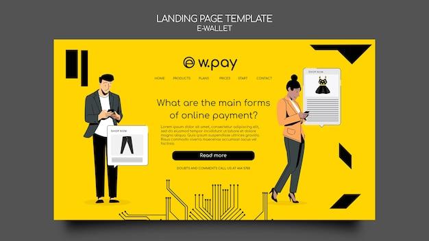 Websjabloon voor e-wallet