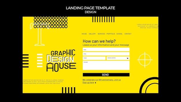 Websjabloon voor grafisch ontwerpdiensten