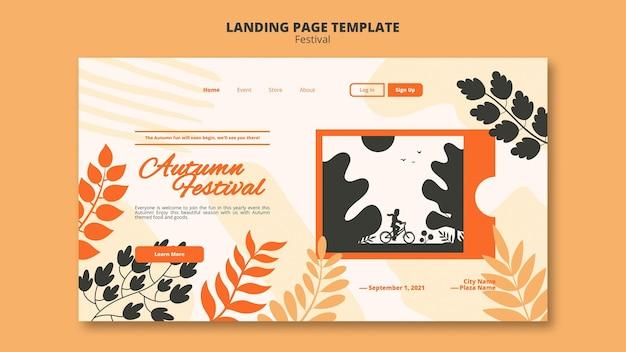 Websjabloon voor herfstfestival