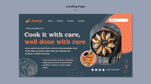 Websjabloon voor keukenveiligheid met foto